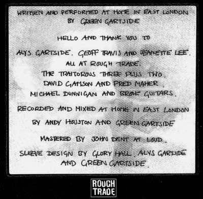 Scritti Liner Notes