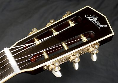 Brook Guitars Bob Headstock