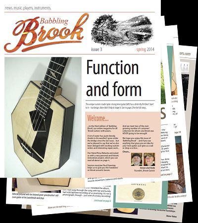 Brook Guitars babbleing brook