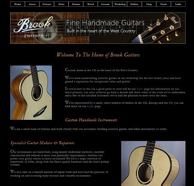 Brook Guitars New Homepage image