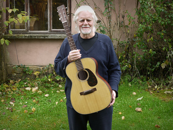 Tony Hazzard and his Martin outside Brook Guitars News Archive 2016-2015