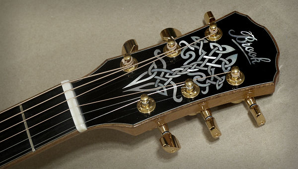 Brook OM Cletic Headstock Inlay News Archive 2016-2015