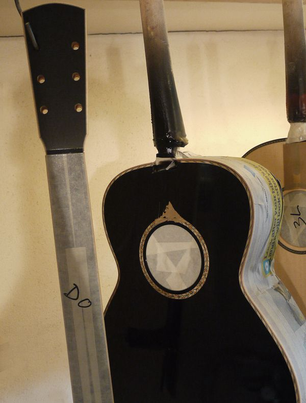 Re-spray at Brook Guitars News Archive 2016-2015