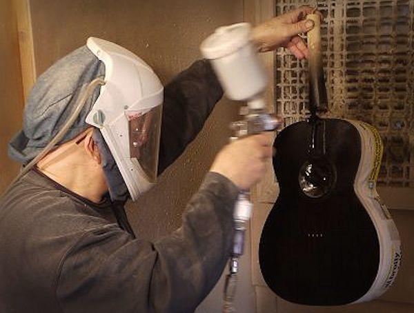 Spraying at Brook Guitars News Archive 2016-2015