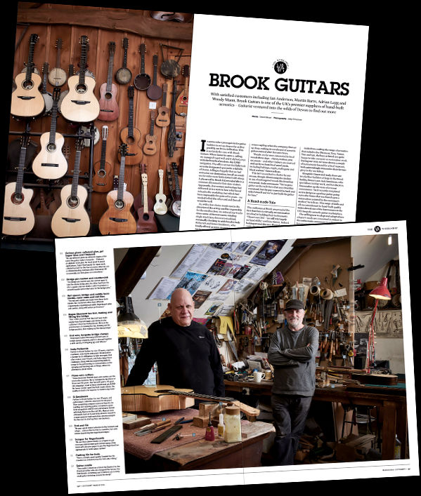 Brook Guitars Article in Guitarist Magazine News Archive 2016-2015