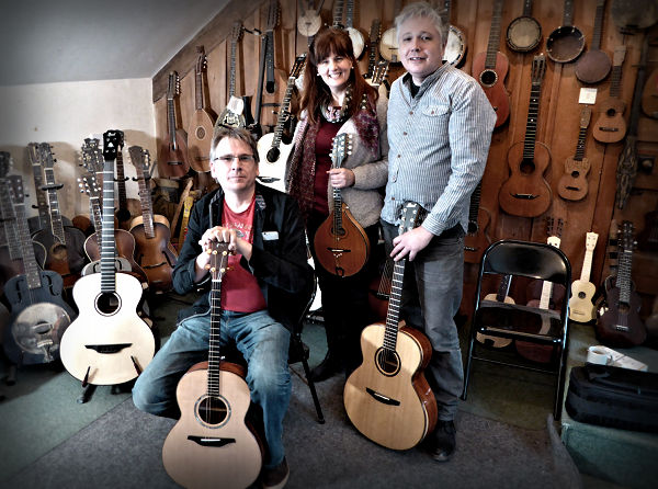 Rob, Kate And Robbie At The Brook Guitars Workshop News Archive 2016-2015