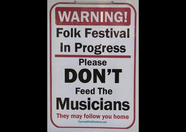 Folk Festival Sign News Archive 2016-2015