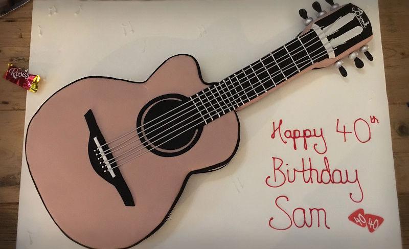 Sam's Brook Guitars Birthday Cake