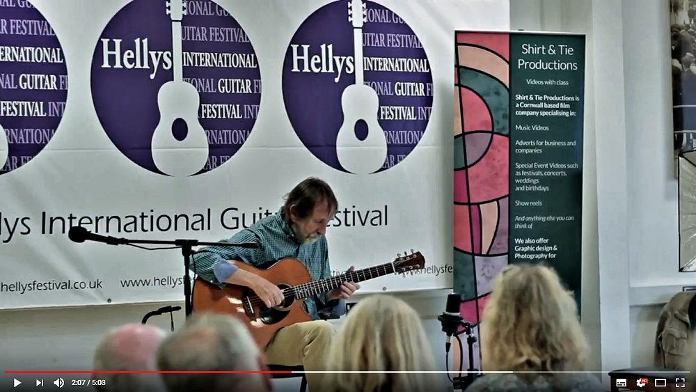 Pete Berryman at Hellys Guitar Festival