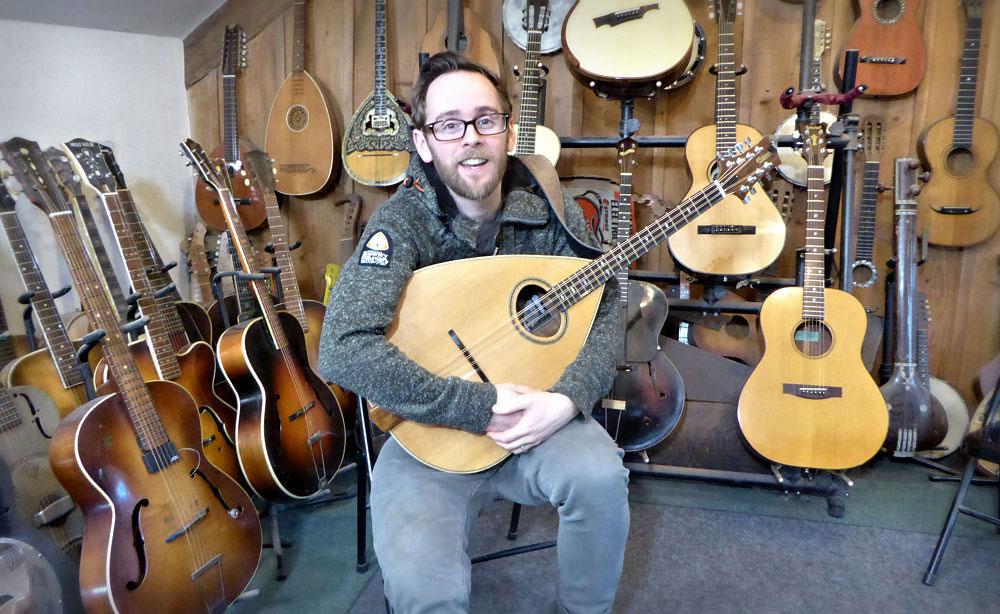 Jon and his mandola