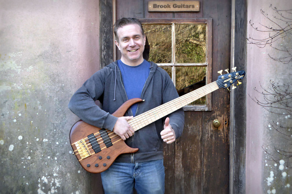 Mark and his de-fretted bass