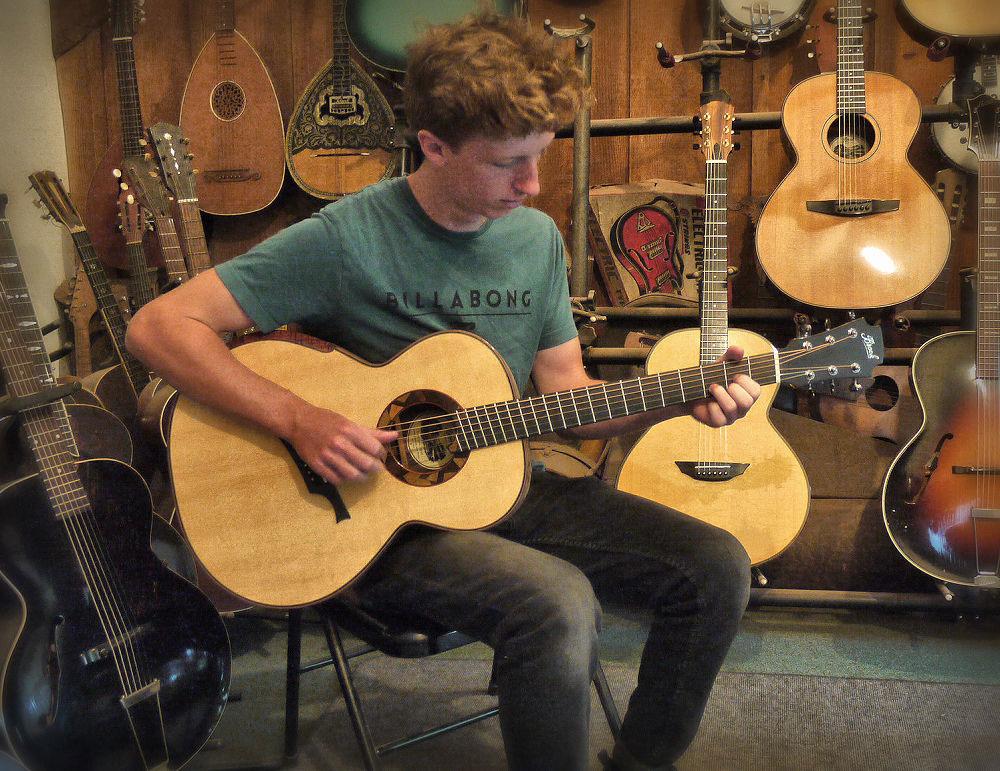 Ollie at Brook Guitars