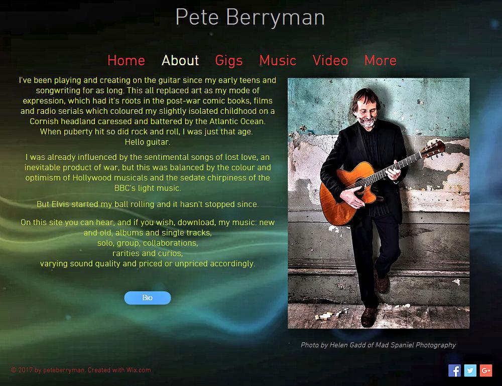 Pete Berryman Website