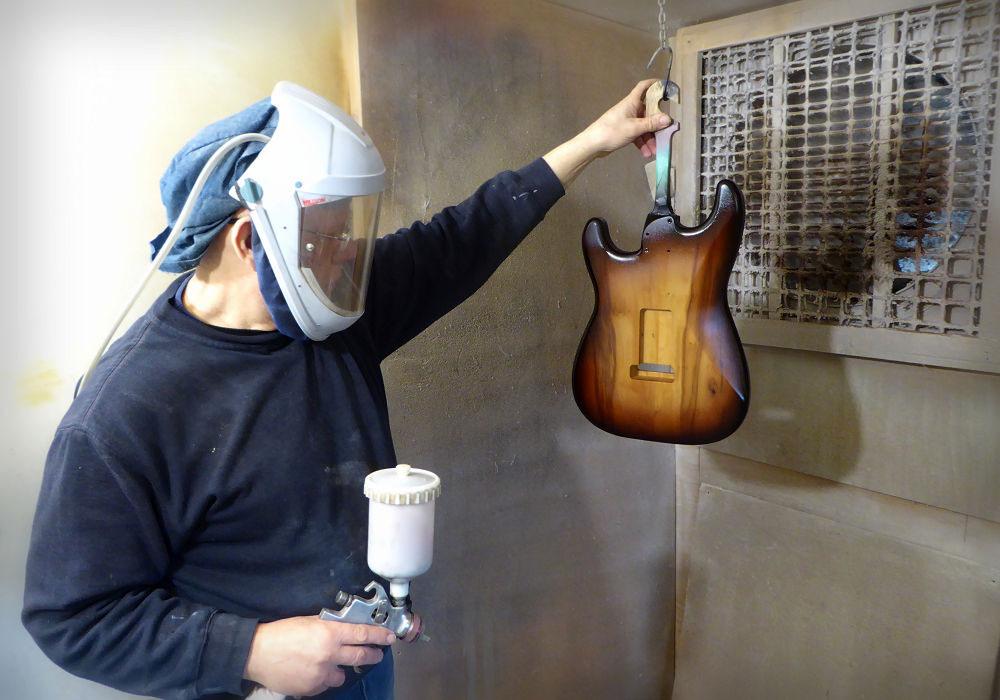 Andy Spraying Strat