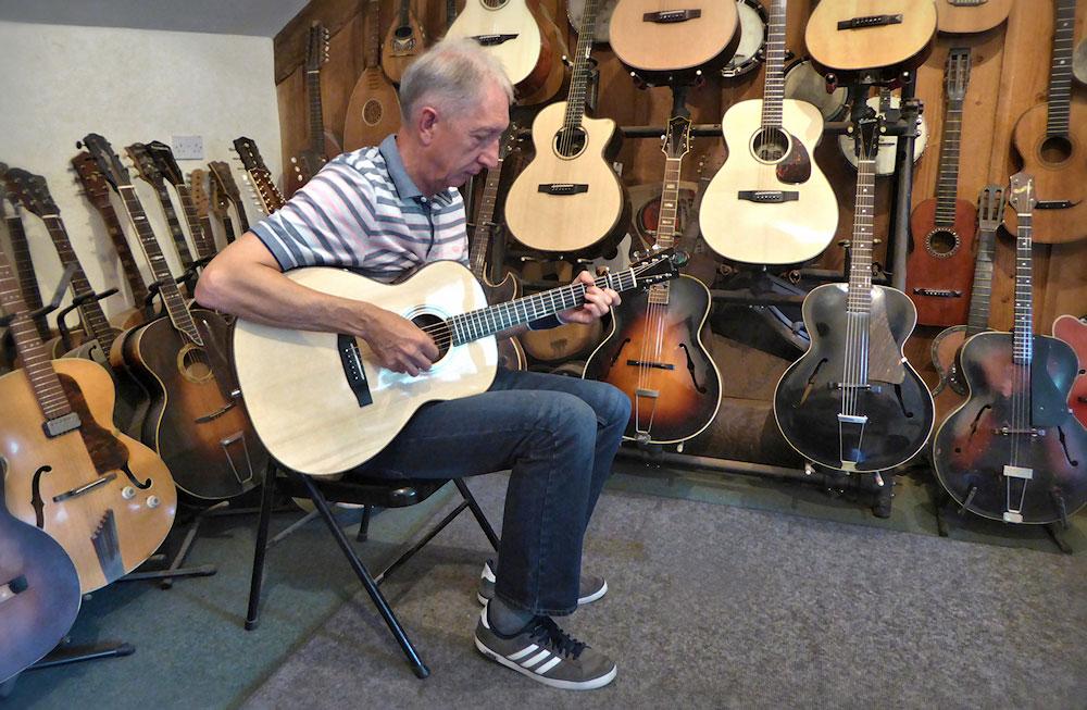 Phil Playing His Brook Lamorna