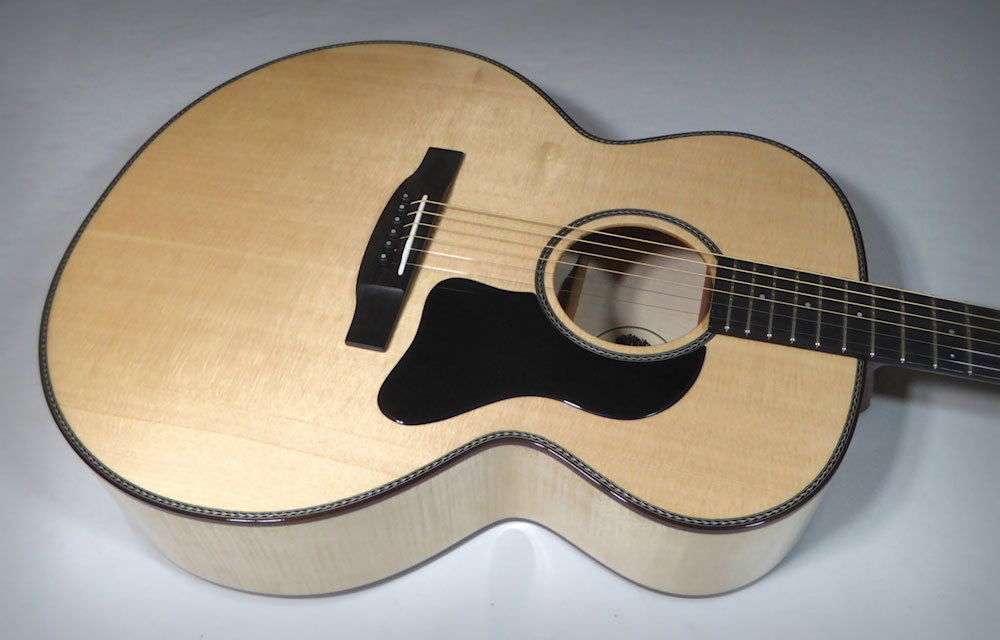 Close Up of Brook Guitars Okement