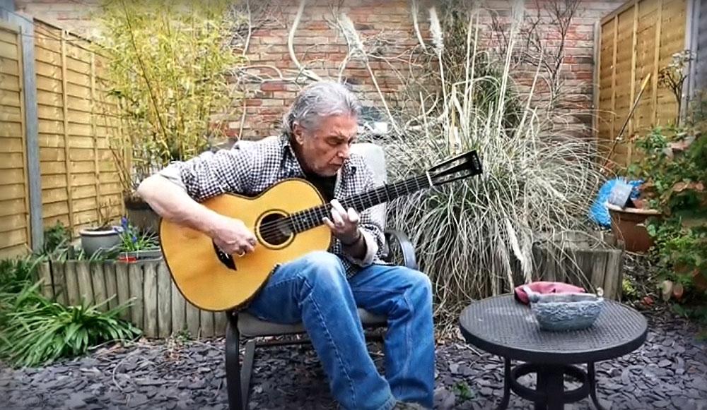 Nigel Recording in his Garden