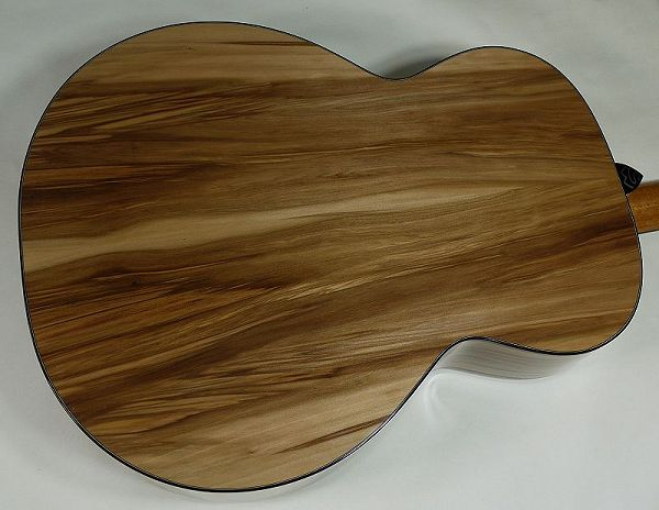 Shaun guitar red gum back