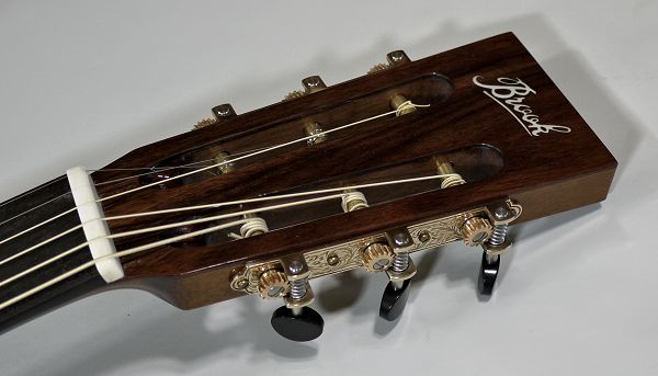 Brook Lyn headstock with Waverly tuners