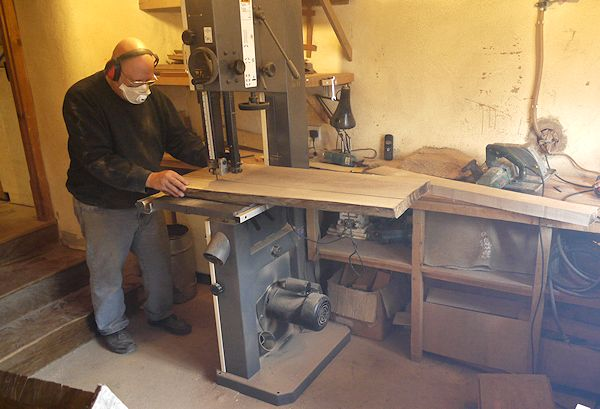 Andy On his bandsaw